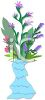 Exotic Flowers in a Vase clipart