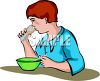 Boy Eating Breakfast Clip Art clipart