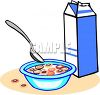 Cereal and Milk Clip Art clipart