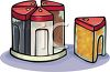 Plastic Canisters Clip Art clipart