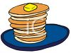 Large Stack of Pancakes clipart