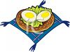 Eggs on a Bun clipart