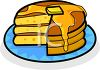 Butter Melting Down a Stack of Pancakes Clipart clipart