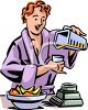 Woman Making a Smoothie Clipart clipart