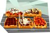 Fancy Waffles with Toppings Clip Art clipart