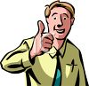 "Businessman Giving the ""Thumbs Up"" Sign clipart"
