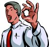 "Businessman Giving the ""A-Ok"" Sign clipart"