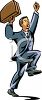 Happy Businessman Clip Art clipart