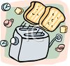 Bread Popping Out of a Toaster clipart