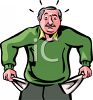 Man With Empty Pockets Clip Art clipart