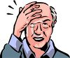 Old Man with a Headache Clip Art clipart