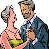 Elderly Couple Dancing Clip Art clipart