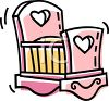Pink Cradle for a Newborn Baby clipart