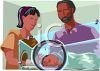 Premature Baby in an Incubator clipart