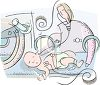 Newborn Baby in an Incubator clipart