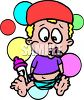 Cartoon Baby with a Binky clipart