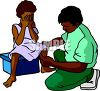 African Pediatric Doctor  clipart