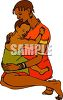 African Child On His Mothers Lap clipart