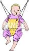 Baby in a Johnny-Jump-Up clipart