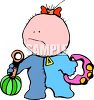 Cartoon of a Cute Baby clipart
