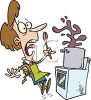 Cartoon of a Surprised Woman, Cooking clipart