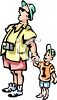 Little Boy With His Dad clipart