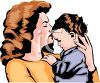 A Mother Kissing Her Baby clipart