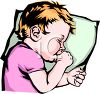 Child Sleeping With His Thumb in His Mouth clipart