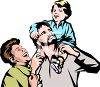 Happy Caucasian Family clipart