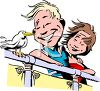 Happy Couple on a Cruise clipart