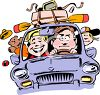 Family Going on a Trip in the Car clipart