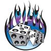 Flaming Dice clipart