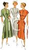 Dress Ad Showing Three Lady Models-1940's clipart