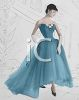 Model Wearing a 1950's Prom Dress  clipart