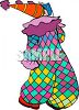 Clown with Balloon Pants clipart