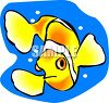 Yellow Clown Fish clipart