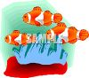 Clown Fish in the Sea clipart
