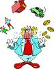 Clown Juggling Life clipart
