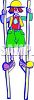 Clown on Stilts clipart