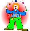 Clown Juggling Balls clipart