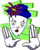 White Face Mime clipart