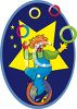 Clown Juggling while Riding a Unicycle clipart