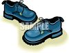 Blue, Oxford Style Shoes clipart