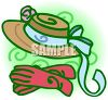 Ladies Hat and Gloves clipart