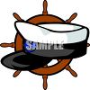 Ship Captains Hat clipart
