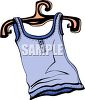 Tank Top on a Hanger clipart