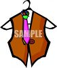 Vest and Tie clipart