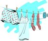 Laundry on a Clothesline clipart