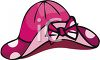 Pink Sun Hat with a Bow clipart