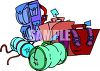 Baggage with Claim Tickets clipart